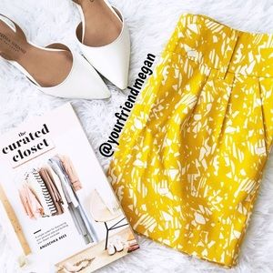 Yellow Mini Skirt With Pockets